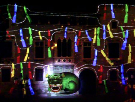 VIDEO MAPPING DE LA FIESTA MAYOR DE VILAFRANCA 2018