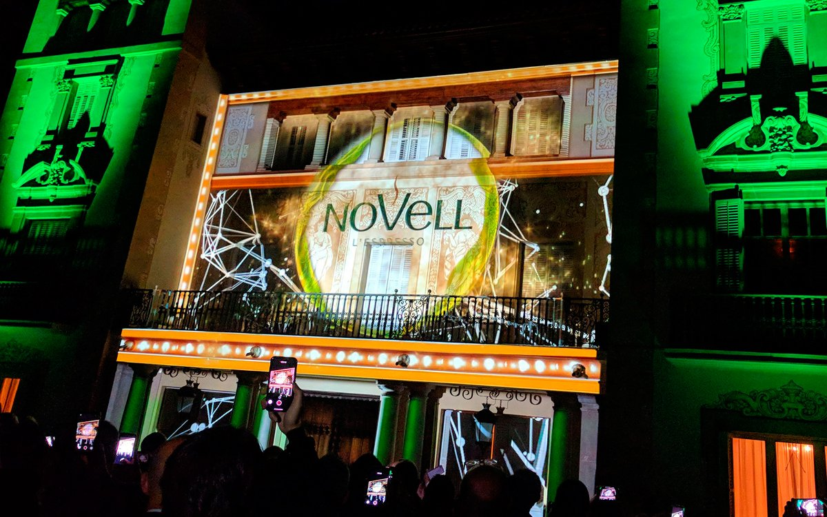 VIDEO MAPPING 60TH ANNIVERSARY CAFÈS NOVELL