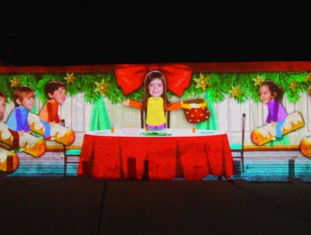 VIDEO MAPPING DE NADAL HOSPITALET DE L'INFANT
