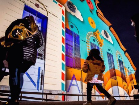 projection mapping the toy factory