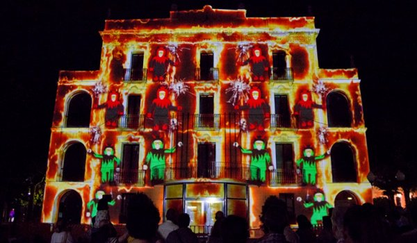 VIDEO MAPPING DE FIESTA MAYOR DE OLESA