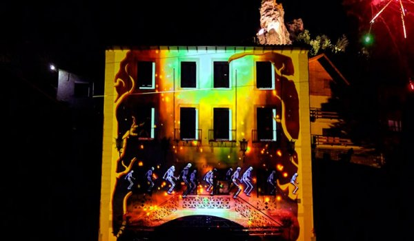 Ribes de Freser Festival begins with a terrifying mapping