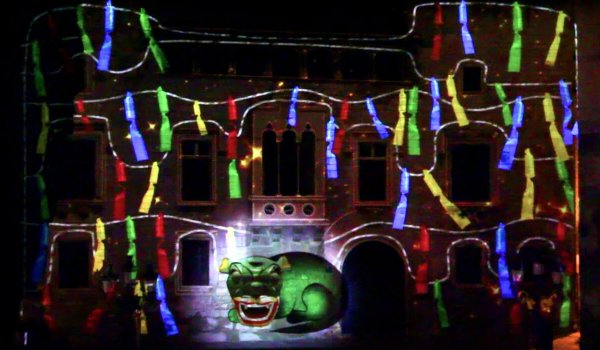 VIDEO MAPPING  LOCAL FESTIVAL OF VILAFRANCA DEL PENEDÈS