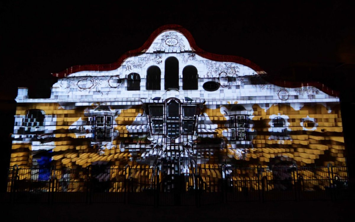 Video mapping 140 aniversario Jujol