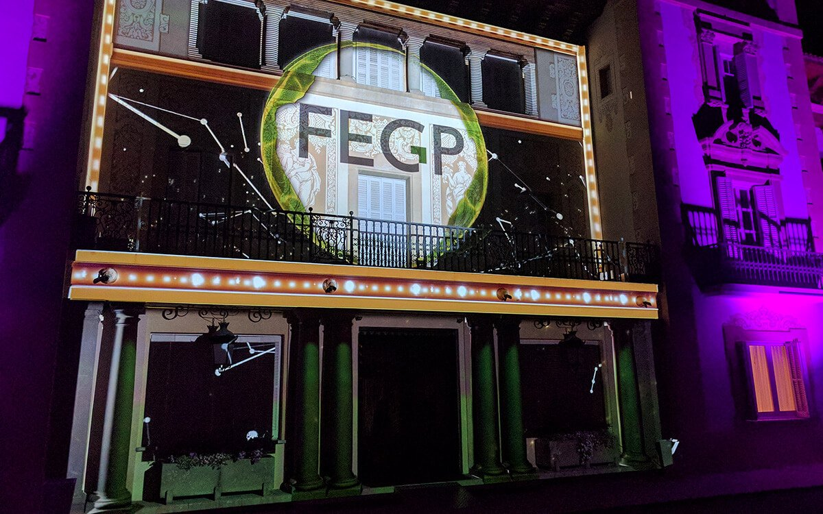 La Noche de la Empresa FEGP video mapping